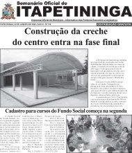 Construção da creche do centro entra na fase final - Prefeitura ...