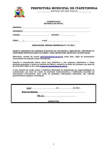PP 51 - AQUISIÇÃO DE CADEIRAS PLÁSTICAS - EDUCAÇÃO [ok ...