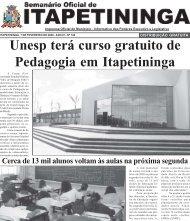 Unesp terá curso gratuito de Pedagogia em Itapetininga - Prefeitura ...