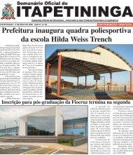Prefeitura inaugura quadra poliesportiva da escola Hilda Weiss ...