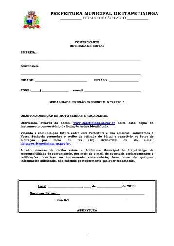 PP 22 - Aquisição Moto Serras e Roçadeiras OK - Prefeitura ...