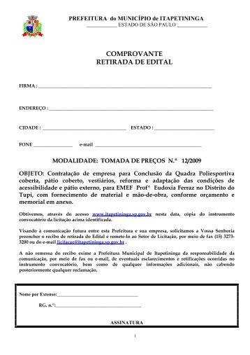 Contratação de empresa para Conclusão da Quadra Poliesportiva ...