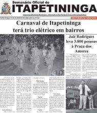 Carnaval de Itapetininga terá trio elétrico em bairros - Prefeitura ...