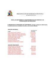 Edital de deferimento e indeferimentos dos isentos e - Prefeitura ...