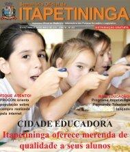 CIDADE EDUCADORA Itapetininga oferece merenda de qualidade ...