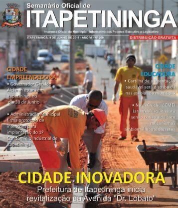 cidade legal - Prefeitura Municipal de Itapetininga