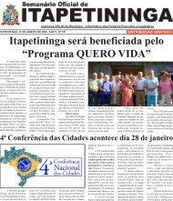 """Itapetininga será beneficiada pelo """"Programa QUERO VIDA"""""""