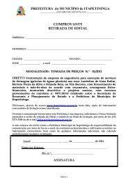 TP 01 - Drenagem ruas da Vila Recreio - Prefeitura Municipal de ...