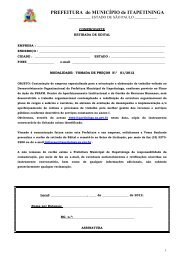 Contratação de empresa especializada para a orientação e ...