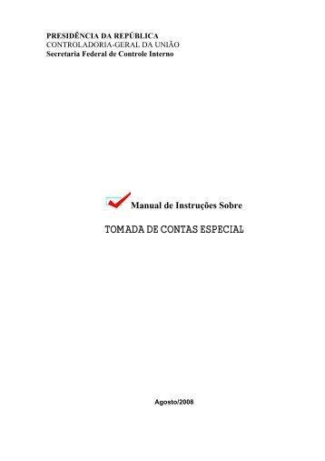TOMADA DE CONTAS ESPECIAL - Controladoria-Geral da União