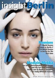 Premiere Medizin-Mekka Premiere Medizin-Mekka - ITB Berlin