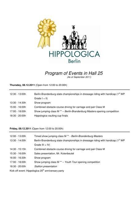 Englisch Programm Halle 25 - ITB Berlin