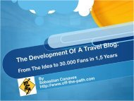 The Development Of A Travel Blog - ITB Berlin Kongress