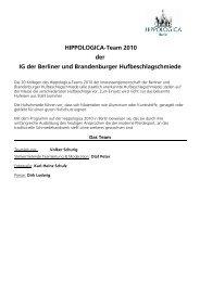 Programm Hufschmiede - ITB Berlin