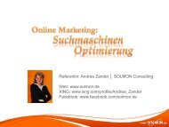 Online Marketing – SEO Suchmaschinenoptimierung - ITB Berlin