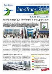 Willkommen zur InnoTrans der Superlative! - ITB Berlin