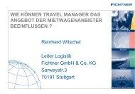 Reinhardt Witschel: Mietwagen Anbieter Beeinflussung - ITB Berlin ...