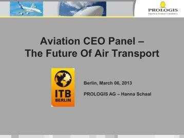 Aviation CEO Panel - ITB Berlin Kongress