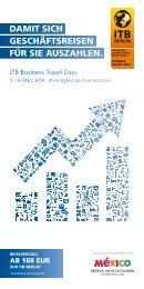 Business Travel Days Flyer 2013 (PDF, 1,4 MB) - ITB Berlin Kongress