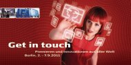 Get in touch - ITB Berlin Kongress