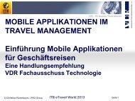 Mobile Applikationen im Travel Management - ITB Berlin Kongress
