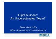 Flight & Coach: An Underestimated Team? - ITB Berlin Kongress