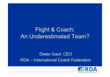 Flight & Coach: An Underestimated Team? - ITB Berlin Kongress