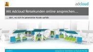 Mit Adcloud Reisekunden online ansprechen... - ITB Berlin Kongress