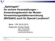 für sichere Veranstaltungen (PDF, 464,4 kB) - ITB Berlin Kongress