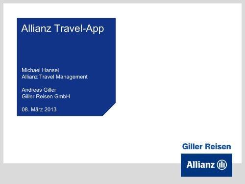 Allianz Travel-App - ITB Berlin Kongress