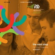 the next step - Institute of Technology Blanchardstown