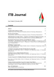 ITB Journal - Institute of Technology Blanchardstown