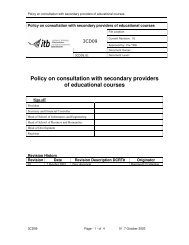 Policy on consultation with secondary providers of educational ...