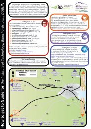 How to get to Guide for - Institute of Technology Blanchardstown