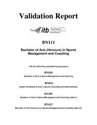 Bachelor of Arts (Honours) in Sports Management and Coaching