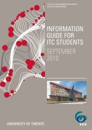 InformatIon GuIde for ItC students September 2010