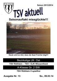 TSV aktuell Nr. 13 2013/14