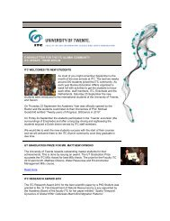 E-NEWSLETTER FOR THE ITC ALUMNI COMMUNITY ITC UPDATE ...