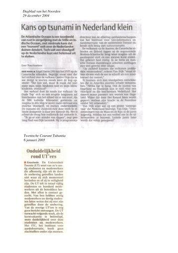 Dagblad van het Noorden 29 december 2004 Twentsche ... - ITC
