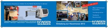 Einladung zur Hausmesse 2012 21./ 22.09.2012