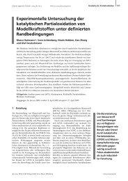 Experimentelle Untersuchung der katalytischen Partialoxidation von ...