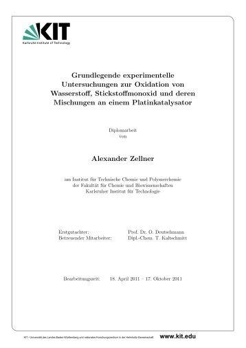 Grundlegende experimentelle Untersuchungen zur Oxidation von ...