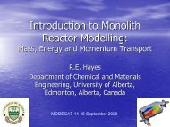Tutorial Modeling of monolith reactors