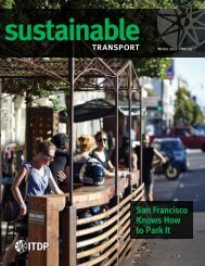 Sustainable - ITDP | Institute for Transportation and Development ...