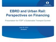 EBRD and Urban Rail: Perspectives on Financing - ITDP   Institute ...