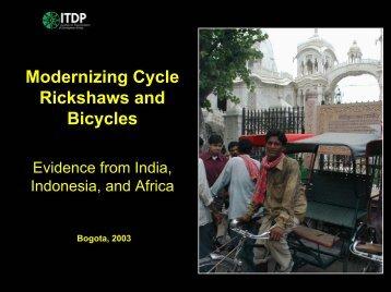 Modernizing Cycle Rickshaws and Bicycles