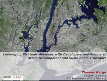 Leveraging Strategic Alliances with Developers and Planners ...