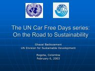 The UN Car Free Days series - ITDP | Institute for Transportation and ...