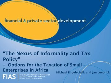 """""""The Nexus of Informality and Tax Policy"""""""