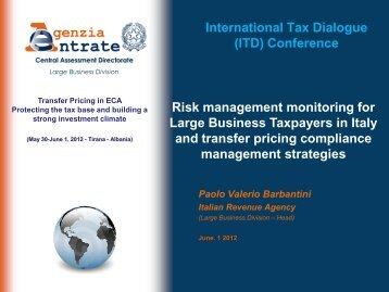 Paolo Valerio Barbantini - International Tax Dialogue